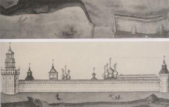 Вид на Лавру с северной стороны. Из Альбома 1745 г. 001_2