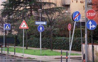 Road signs galore - pedestrian crossing confusion