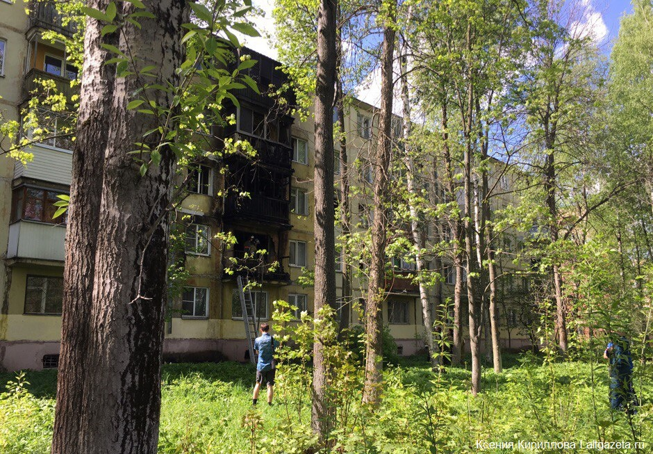 На фото Сейчас горят две квартиры на Вознесенской изображение