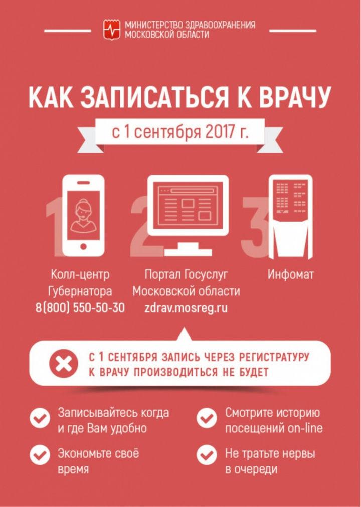 Сайт госуслуг московской области очередь в поликлинику
