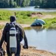 Лесное озеро проверили водолазы и спасатели