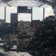 Последствия пожара на свалке в Шеметово