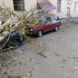 Деревья помяли машины на Скобянке