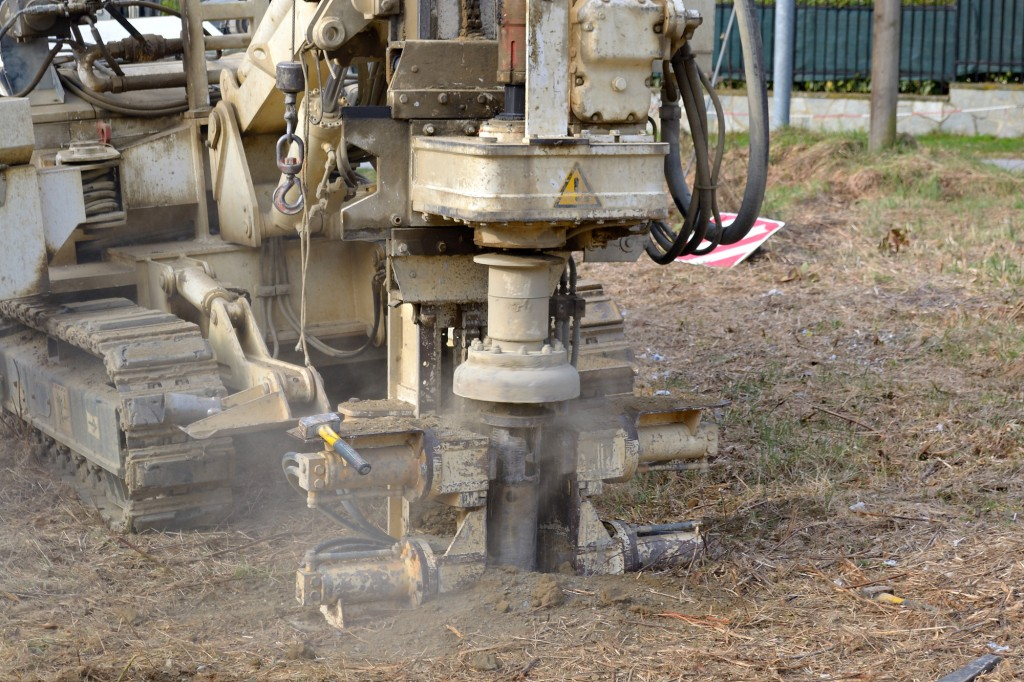 Drilling equipment for geotechnical engineering purpose.