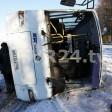 Автобус завалился на бок у Лозы в Сергиево-Посадском районе