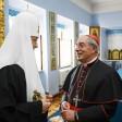 Римский кардинал встретился в Лавре с Патриархом