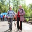 Здоровье из-под палок: в Сергиевом Посаде прошел открытый урок по скандинавской ходьбе