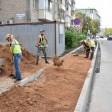 Тротуар начали строить вдоль Северного проезда в Сергиевом Посаде
