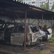 Два автомобиля сгорели на охраняемой стоянке на Дружбе