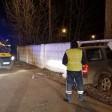 Пьяный водитель пробил бетонный забор
