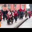 Деды Морозы проехали по Сергиеву Посаду велопарадом