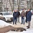 Глава Сергиево-Посадского округа проверил работу по уборке снега и установке новых контейнерных площадок во дворах