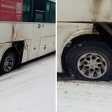 Колесо у автобуса с пассажирами взорвалось под Сергиевым Посадом