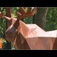 Полигональные лоси и медведи забрели в парк «Скитские пруды»