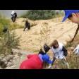 Школьники очистили от мусора берег реки Куньи