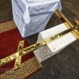 На часовне памяти воинов-земляков освятили крест