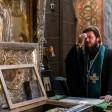 Епископ Фома совершил молебен преподобному Сергию в Троицком соборе