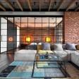 Стиль лофт в интерьере квартиры в Москве - бетонные раковины и стеновые панели
