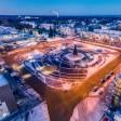 Площадь Пухова в Сергиево–Посадском округе благоустроили с помощью уникального материала