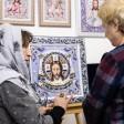 В Троицком доме ремесел открылась выставка «Икона бисером»