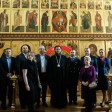 Экипаж самолета Superjet 100 «Сергиев Посад» и представители авиакомпании «Россия» посетили Лавру