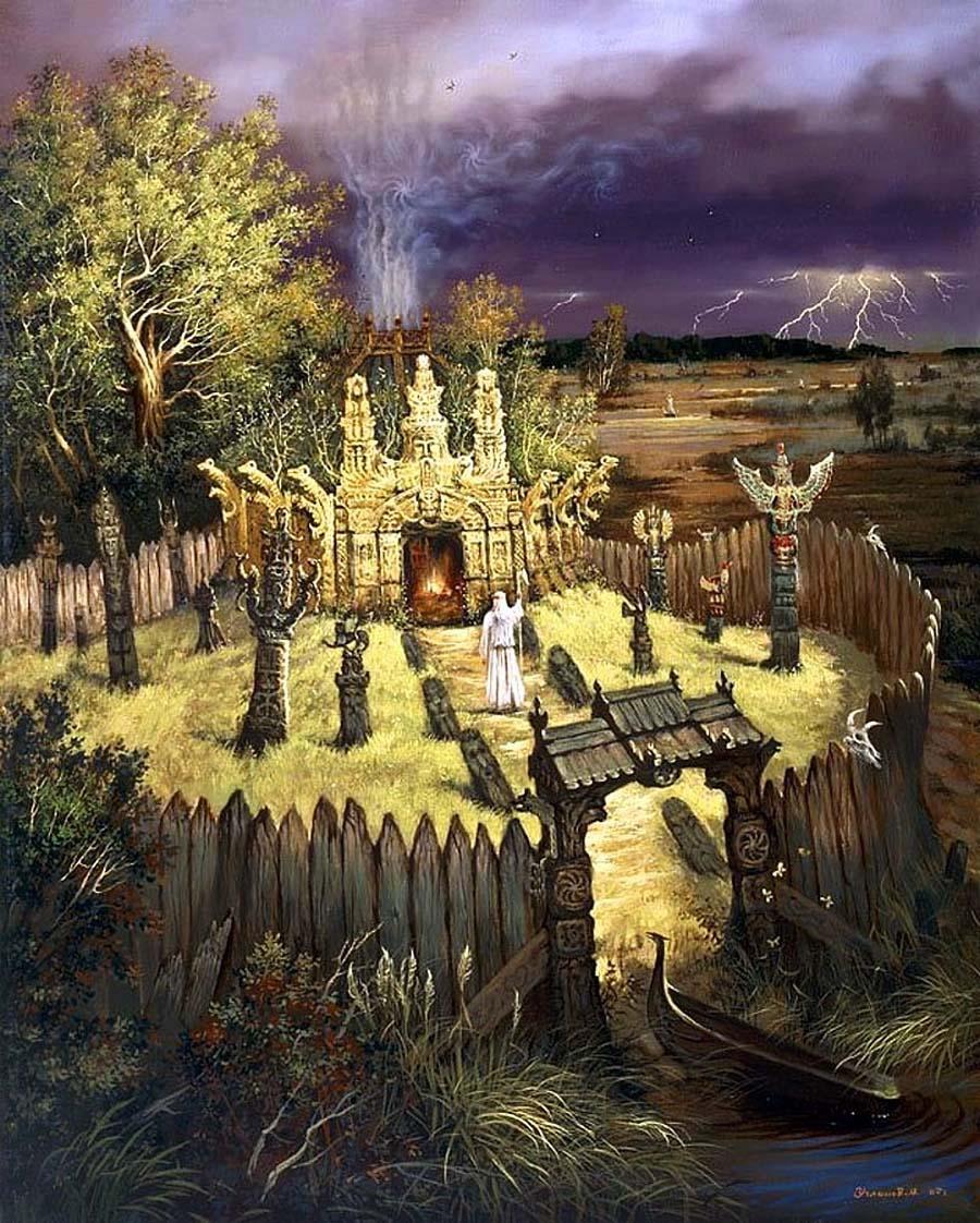 «Древнее капище» А. Угланов