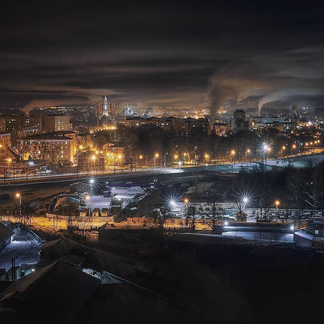 Вид на Сергиев Посад с 17 этажа.