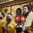 Наместник Лавры совершил Литургию в храме преподобных Зосимы и Савватия Соловецких