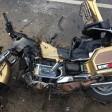 Мотоциклист вылетел на встречку под джип?
