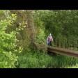 Пешеходный мост через речку Торгоша в районе деревни Охотино отремонтировали