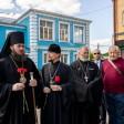 Епископ Фома освятил мемориал защитникам Лавры на Воскресенском подворье